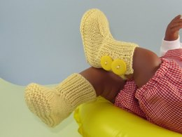 Baby 2 Button Rib Top Booties