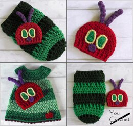 Hungry Caterpillar Baby Dress Cocoon and Hat Set