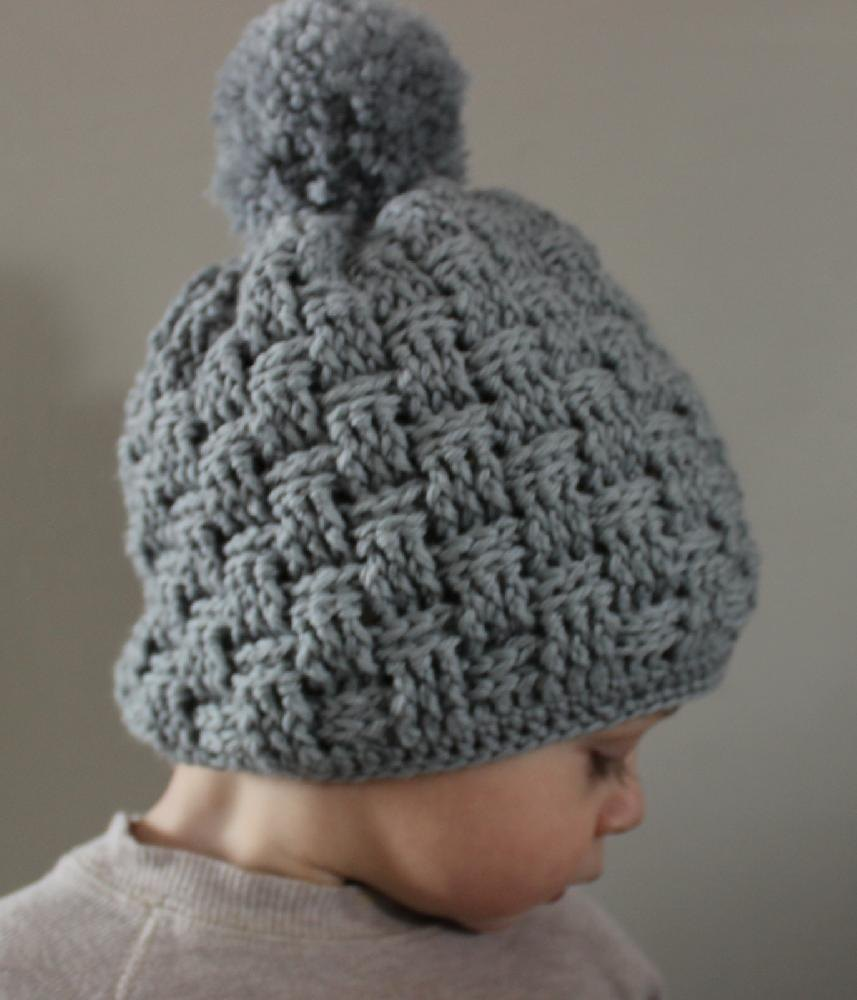 Basket Weave Hat Pattern Free : Little basket weave hat crochet pattern by squirrel