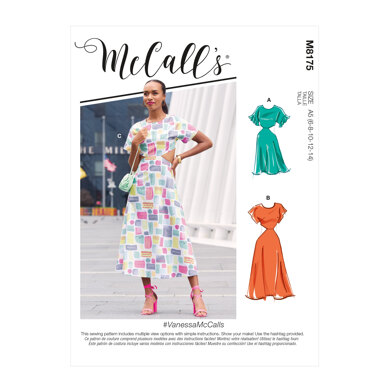 McCall's Misses' Dresses M8175 - Sewing Pattern