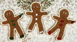 0620 Iced Gingerbread Men Coasters