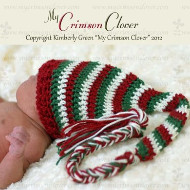 """Baby Hat - """"Stocking Cap/Candy Cane Cap"""""""