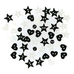 Dress It Up Buttons Micro Shapes Black/White