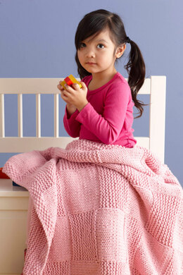 Princess Basketweave Throw in Lion Brand Baby's First - L0007