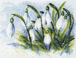 RTO Early Snowdrops Cross Stitch Kit - 25cm x 19cm