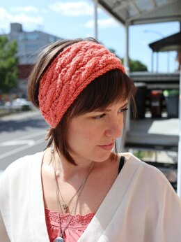 Seed Stitch Cable Headband