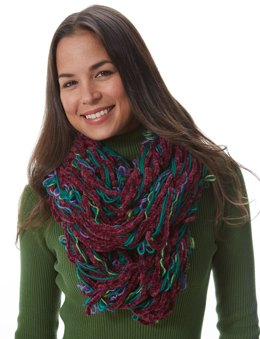 Arm Knit Cowl in Patons Classic Wool Worsted and Bohemian