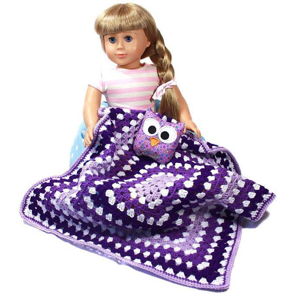 With Love From Gran Doll Blanket Crochet Pattern By Doll Tag Clothing
