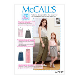 McCall's Misses', Children's and Girls' Top, Skirt, Shorts and Pants M7942 - Sewing Pattern