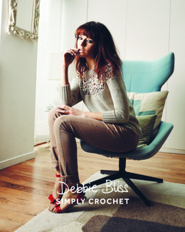 Simply Crochet Catherine Sweater in Debbie Bliss - DB140