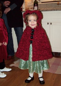 Toddler's Hooded Cape