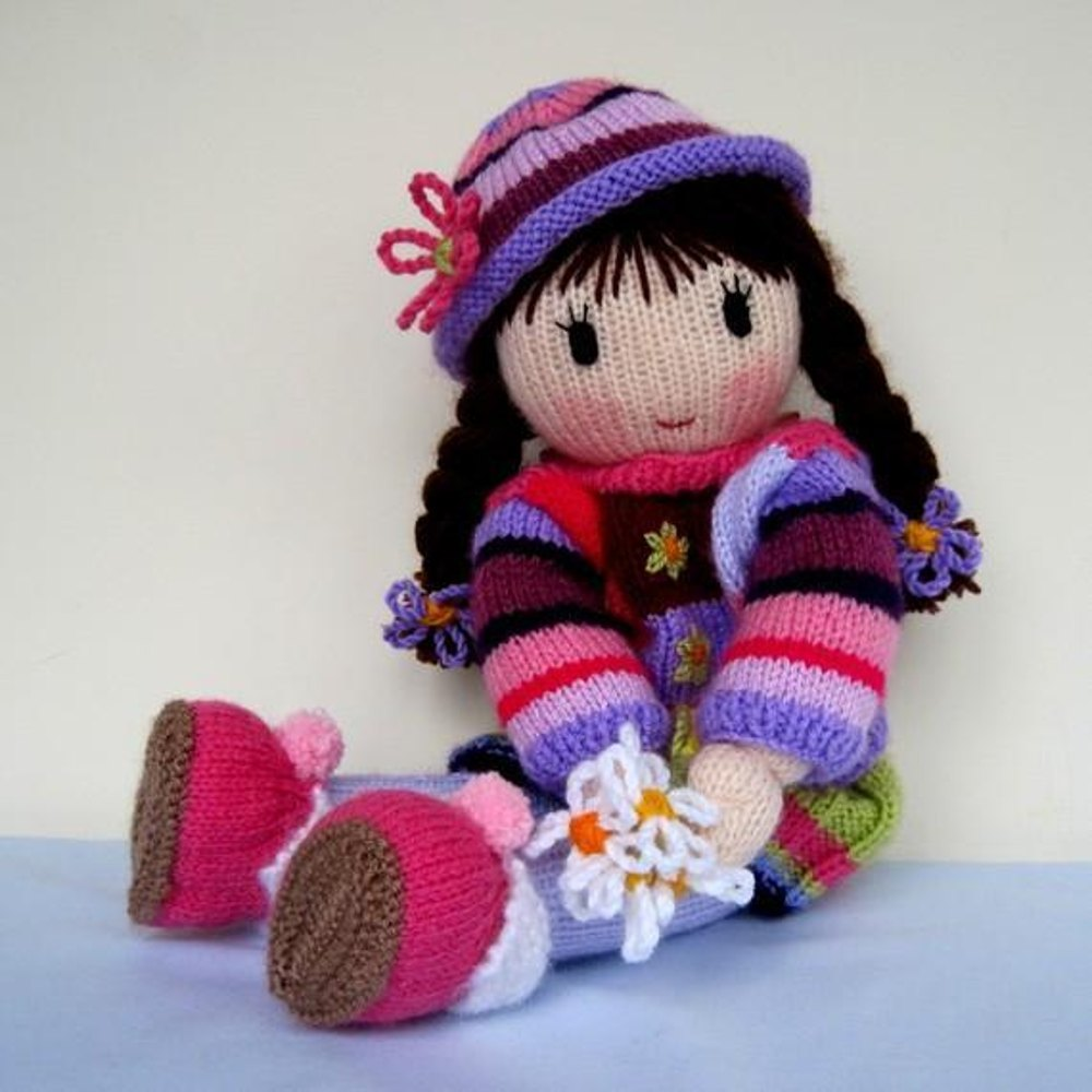 Posy - Knitted Doll Knitting pattern by Dollytime Knitting Patterns LoveK...