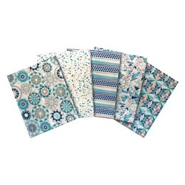 Visage Textiles Star Facet Fat Quarter Bundle - Green