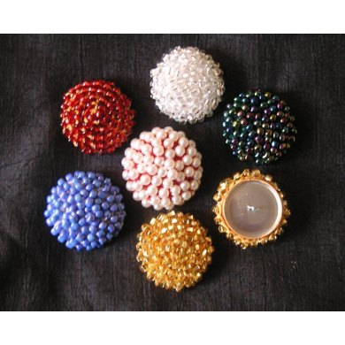 Crochet Beaded Cord Button