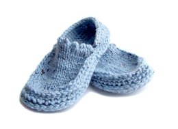Moccasin Slippers, Knit Crochet Slippers
