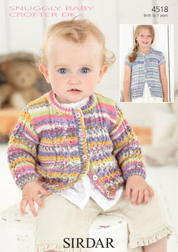 Baby and Girl's Cardigans in Sirdar Snuggly Baby Crofter DK - 4518