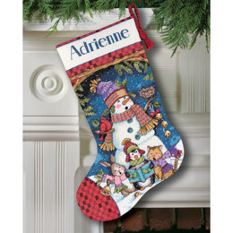 Dimensions Cute Carollers Stocking Cross Stitch Kit