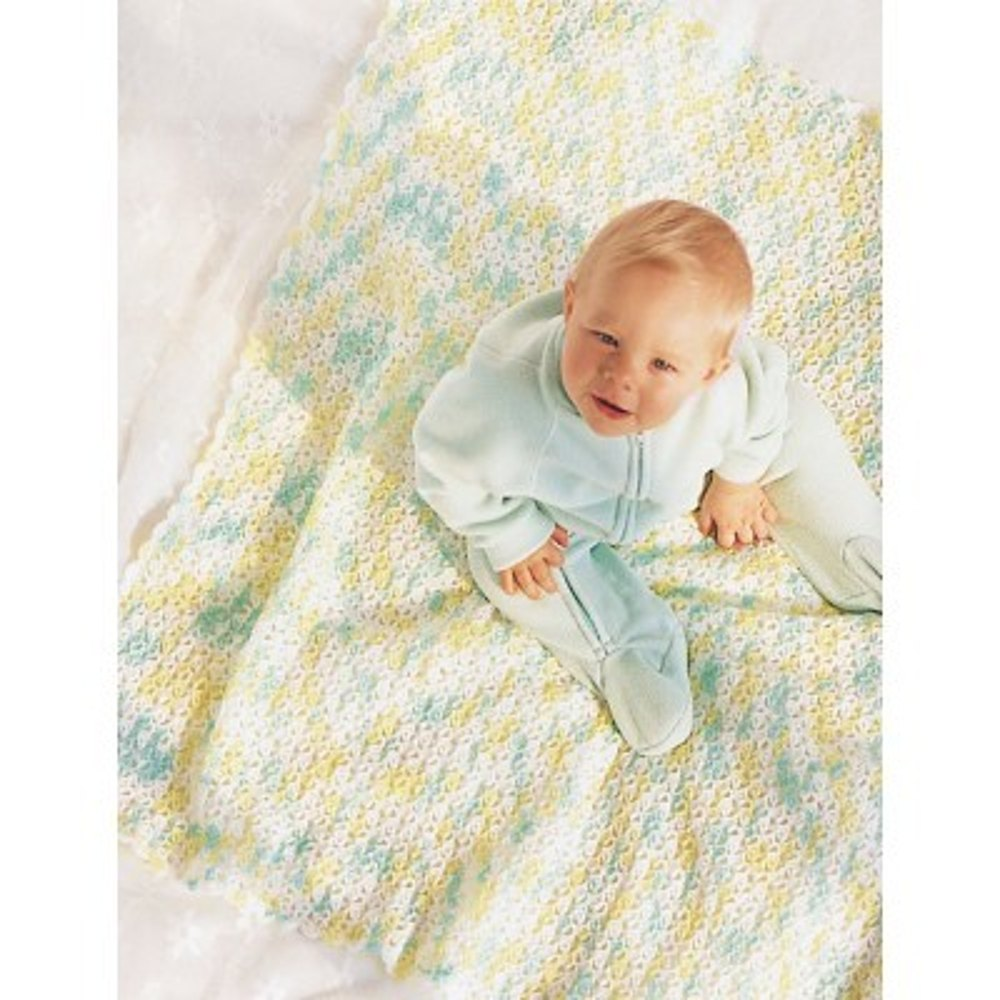Baby Afghan in Bernat Baby Knitting Patterns LoveKnitting