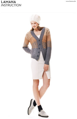 Caramel Cardigan in Lamana Cusco - 03/14 - Downloadable PDF