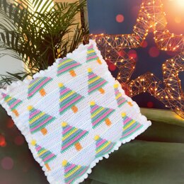 Rainbow Christmas Tree Cushion