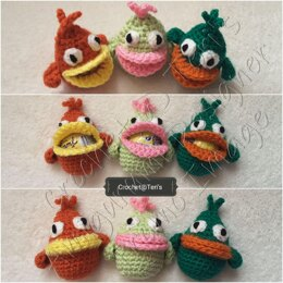 Amigurumi Googly Eyed Chicken Creme Egg Cosies