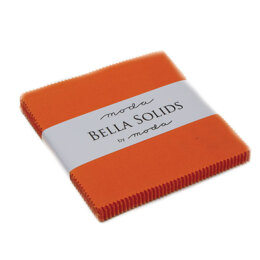 Moda Fabrics Bella Solids 5in Charm - Orange