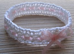 Mock Cables and Lace Baby Headband