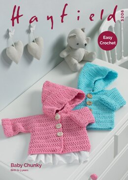 0a9b3c250feb Coat in Hayfield Baby Chunky - 5206 - Downloadable PDF