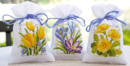 Vervaco Spring Flower Bags Cross Stitch Kit
