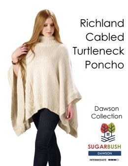 Richland Turtleneck Poncho in Sugar Bush Yarns Dawson - Downloadable PDF