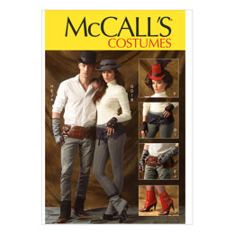 McCall's Spats/Gaitors Fingerless Gloves Hats and Belts M6975 - Paper Pattern Size One Size Only