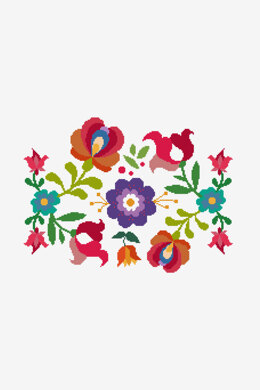 Summer Mexican Flowers in DMC - PAT0586 -  Downloadable PDF