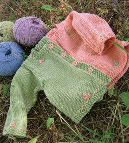 Running Stitch Cardigan in Knit One Crochet Too Dungarease - 1916 - Downloadable PDF