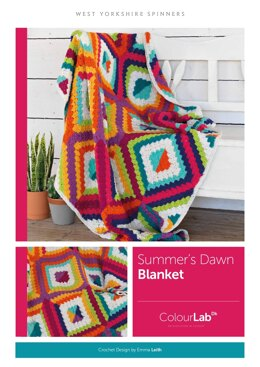 Summer's Dawn C2C Blanket in West Yorkshire Spinners ColourLab - Downloadable PDF