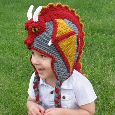 Crochet Dragon Hat Pattern (US TERMS)