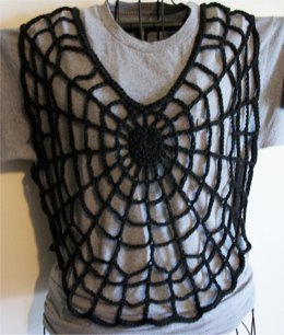 Gothic spiderweb V Neck Vest