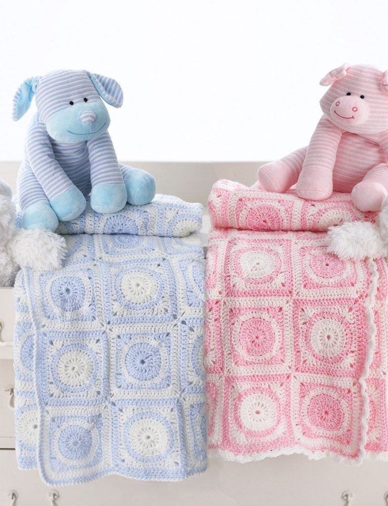 Knitting Patterns For Bernat Baby Sport Yarn : Dream Time Motif Blanket in Bernat Baby Sport Knitting Patterns LoveKnitting