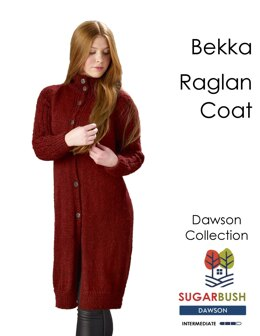 Bekka Raglan Coat in Sugar Bush Yarns Dawson - Downloadable PDF