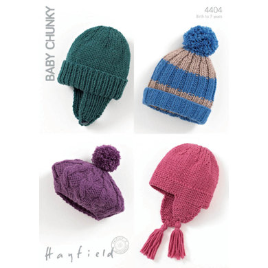 Hats and Beret in Hayfield Baby Chunky - 4404
