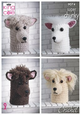 Andre The Alpaca Double Toilet Roll Cover/ Doorstop in King Cole Super Chunky - 9074pdf - Downloadable PDF