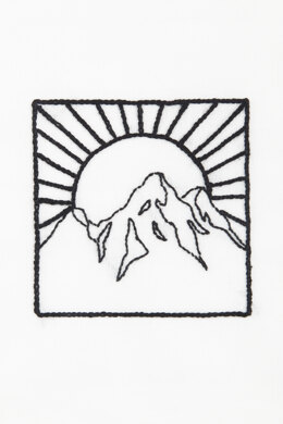 Mountain + Sun  in DMC - PAT0057 -  Downloadable PDF