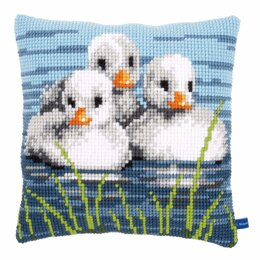 Vervaco Cross Stitch Kit: Cushion: Ducklings in the Water - 40 x 40cm