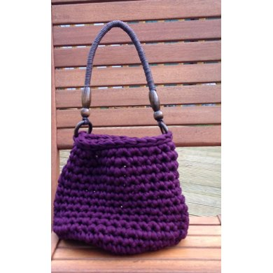 Chunky Crochet Tote Pattern : Chunky textile yarn bag Crochet pattern by Little ...