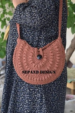 Popcorn Stitch Shoulder Bag