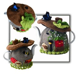Faerie Brown Mushroom House Tea Cosy