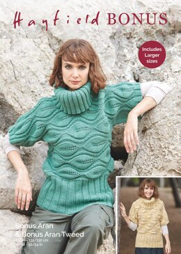 df35e8c3c Sweater in Hayfield Bonus Aran Tweed with Wool - 8228 - Downloadable PDF