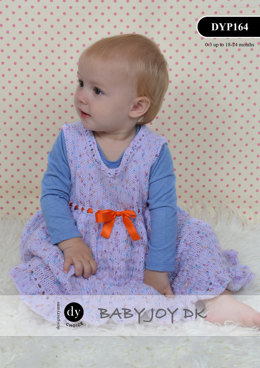 Dress & Headband in DY Choice Baby Joy DK Print - DYP164