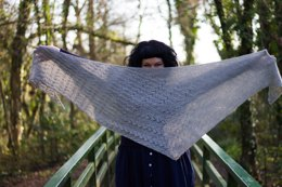 Essie Shawl in Rooster Alpaca 4 Ply