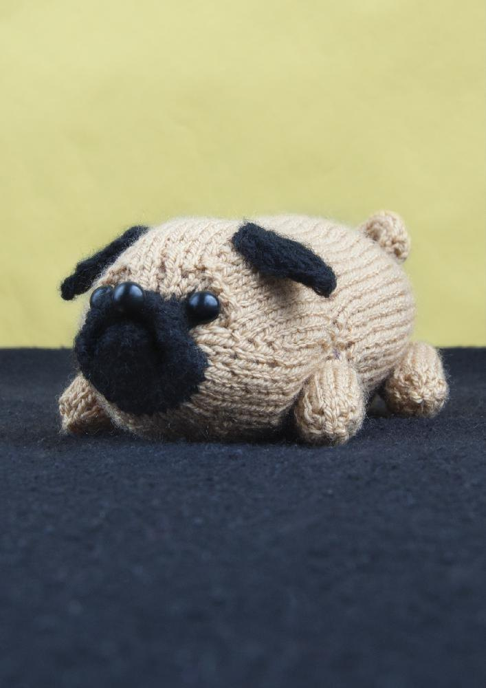 Knitting Pattern For Pug Hat : Jolly the Pug Knitting pattern by Louise Walker Knitting Patterns LoveKni...