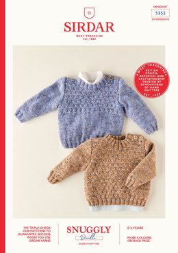 Babies Sweaters in Sirdar Snuggly Doodle DK - 5352 - Leaflet